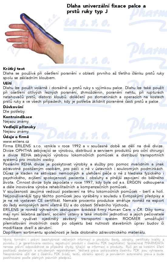 Dlaha univerz.pro fixaci palce a prstů ruky typ J  513952fcca