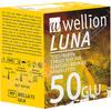 Testovací proužky Wellion LUNA DUO 50 ks + ZDARMA Sada náplastí s polštářkem 5 kusů