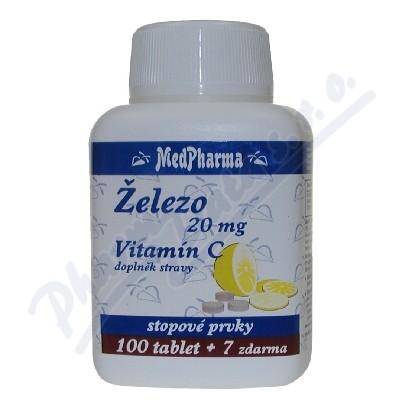MedPh Železo 20mg+vitamín C tbl.107